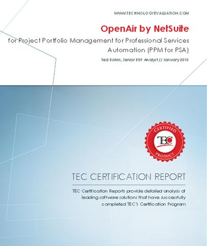 White Paper: TEC Certification Report—NetSuite OpenAir